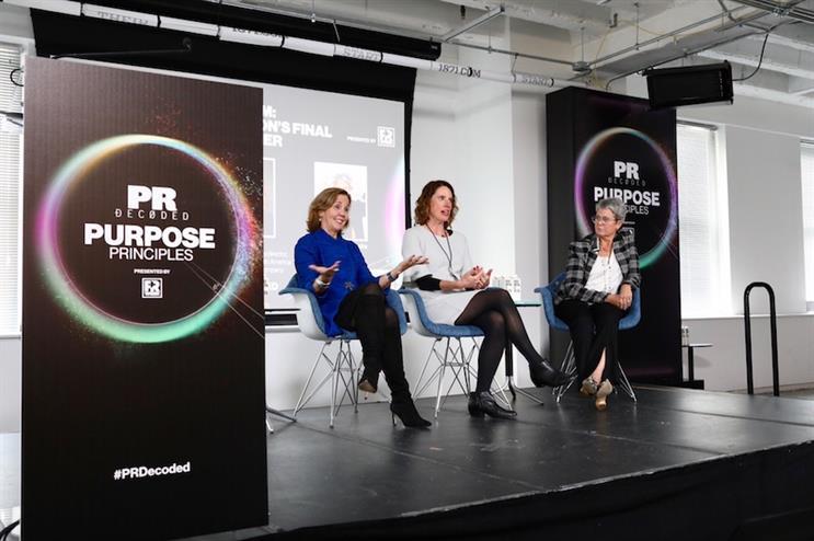 L-R: Panelists Ellen Barry, Sarah Kok, and Patti Temple Rocks