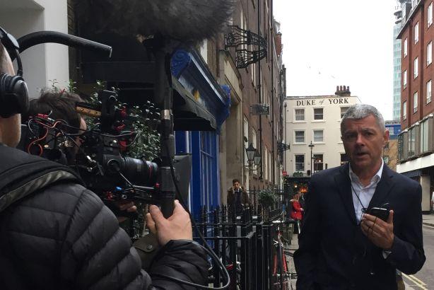 Alan Edwards: Filming upcoming BBC Four documentary 'Media Moguls'