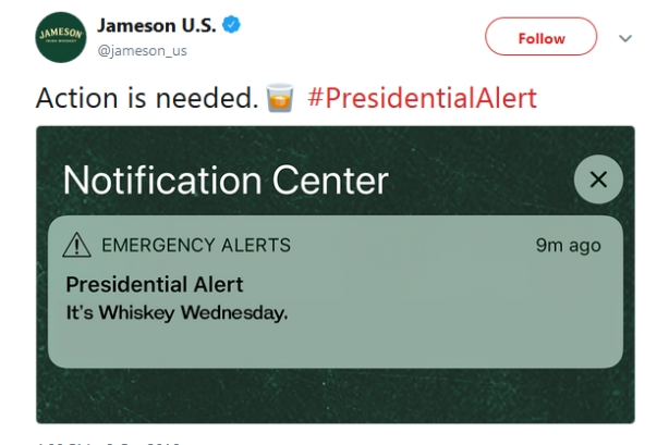 10 brands create their own Presidential Alerts
