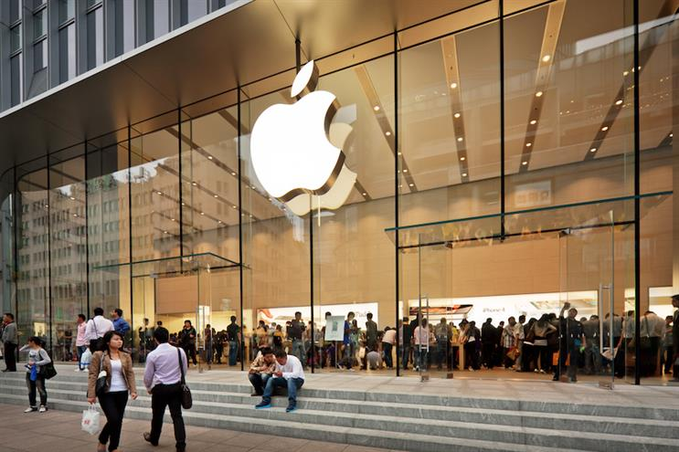 Apple's biggest retail store in Asia, in Beijing. (Photo credit: Getty Images).