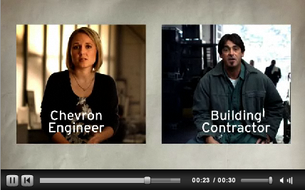 Chevron continues with ad campaign despite spoofs