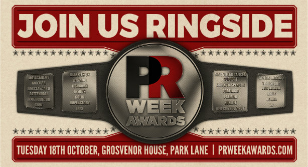 Get your tickets now for the PRWeek UK Awards 2016