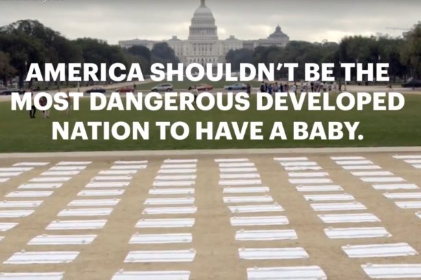 Why 700 receiving blankets were laid out on the National Mall