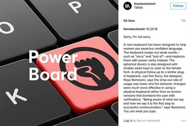 TBWA publishes insight and trend content on Instagram using @tbwabackslash.