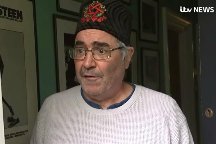 Danny Baker: interviewed at his doorstep over race row