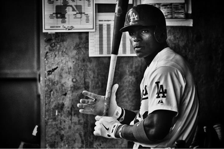 Competitive pitch: in more ways than one... (pictured: Yasiel Puig of the LA Dodgers)