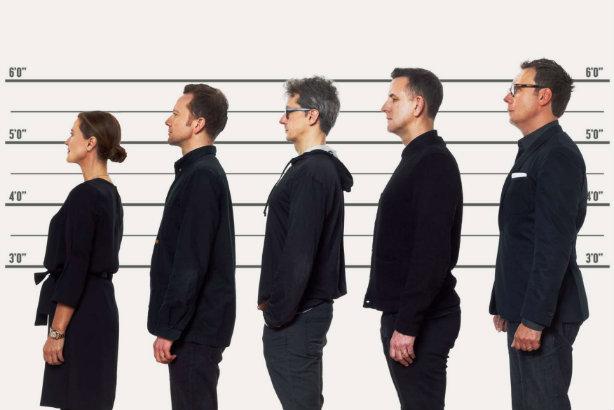 Left to right: Jackie Stevenson, George Bryant, Guy Barnett, Paul Parton, and Matt Neale.