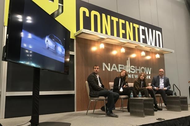 L-R: Andrew Goldberg, Jules Daly, Greg Hahn, PRWeek's Steve Barrett