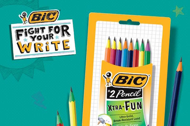 Hunter PR will be working on Bic's Fight for Your Write campaign