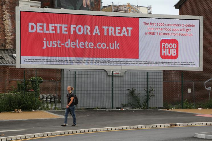 Foodhub 'Just-Delete' campaign offers free takeaways for deleting rival apps