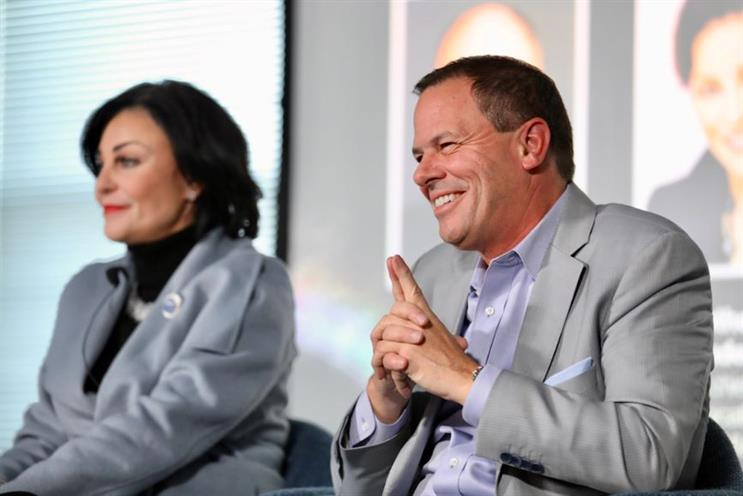 L-R: Aflac's Catherine Blades and GM's Tony Cervone at PRDecoded