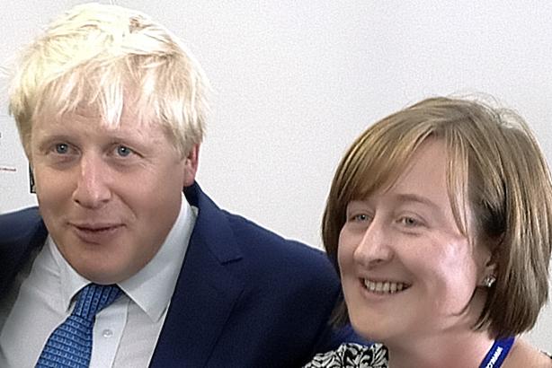 Campaigning days: Katie Perrior with Boris Johnson