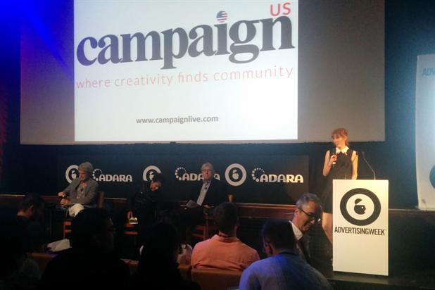 Campaign editor-in-chief Claire Beale unveils the US site at Advertising Week in New York.