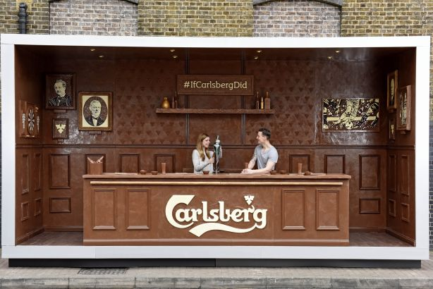 Carlsberg: The chocolate pop-up bar in Shoreditch