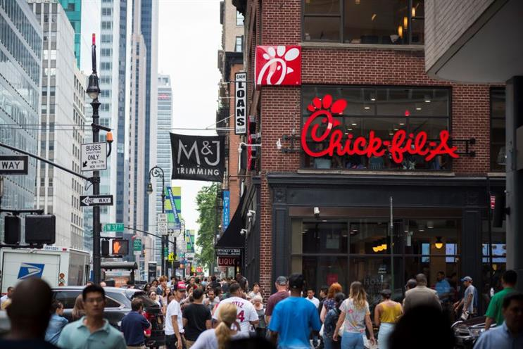 Chick-fil-A in Manhattan. (Photo credit: Getty Images).