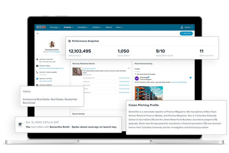 Cision rolled out Cision Connect this week. (Images via Cision).