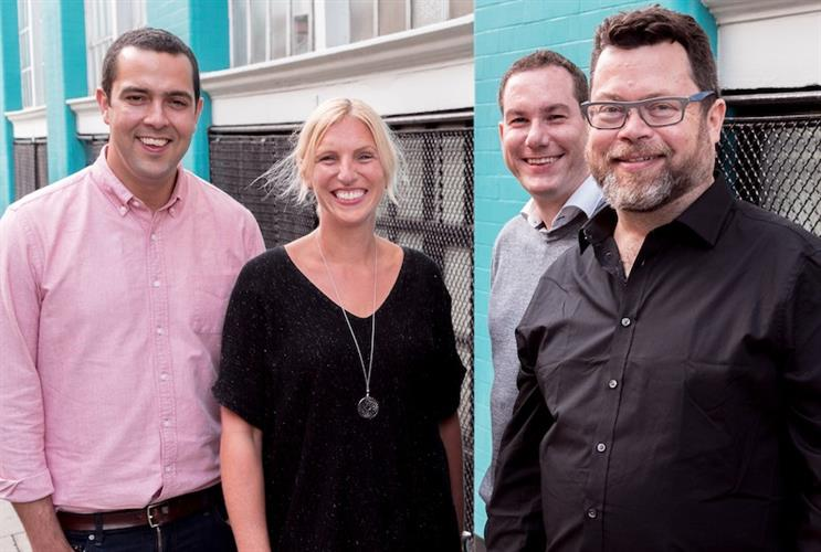 Clarity team (L-R): Sami McCabe, Alex MacLaverty, Peter Bowles and Paul Cockerton