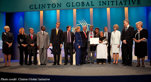 The Global Alliance for Clean Cookstoves is an example of a public-private partnership that tackles a social problem.