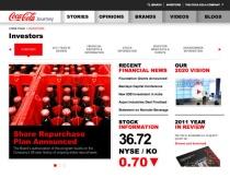Coca-Cola turns corporate site into magazine