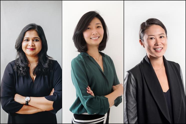 From left to right: Sahana Prabhakar, Sophia Hsu, Alicia Eu