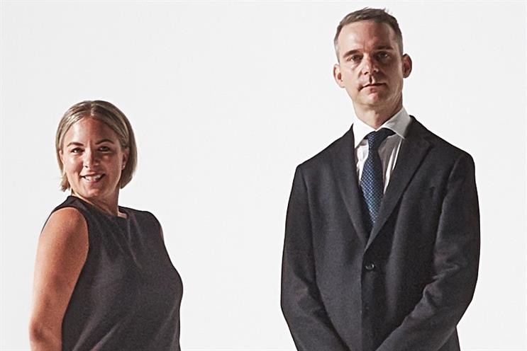 L-R: CEO Andrea Cook and creative chief Ian Mackenzie.