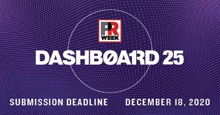 PRWeek launches call for Dashboard 25 submissions