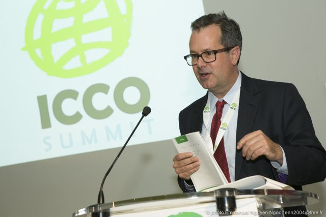 ICCO President David Gallagher speaking at the ICCO Summit in 2013 (file)