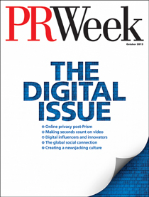 Digital edition of PRWeek's October 2013 issue