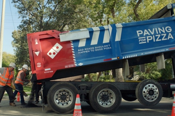 Domino's Paving for Pizza campaign proves 'people are very passionate about potholes'