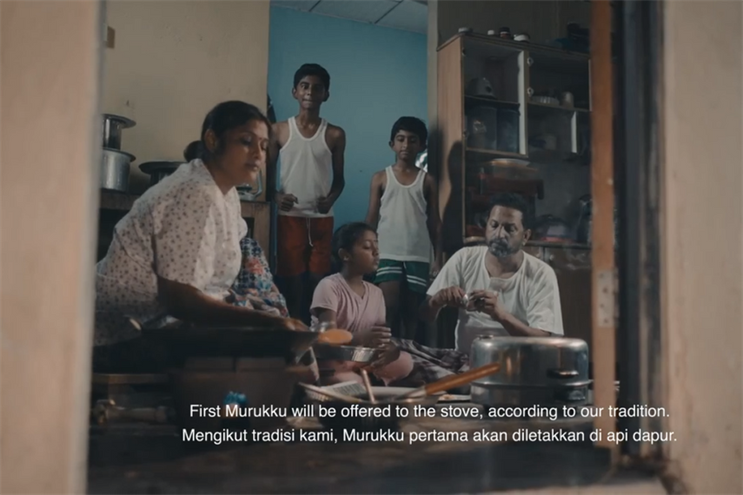 A still from a Deepavali ad that fondly depicts childhood in the kampung by local food brand Enrico's (see video below)
