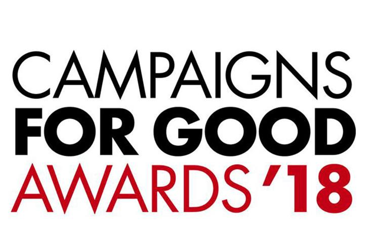 Campaigns for Good Awards: shortlist revealed