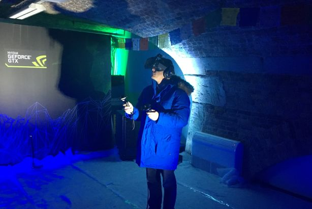 Virtual reality: Dynamo co-CEO Peter Bowles 'climbs Everest' (in London)