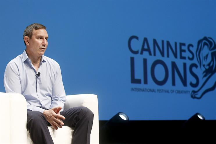 Richard Edelman at the 2018 Cannes Lions International Festival of Creativity. (Photo credit: Getty Images).