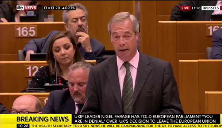 Comms experts criticise Farage's 'smug' speech to EU as likely to harm negotiations