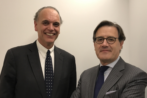 L-R: Mike Fernandez and Jose Antonio Llorente