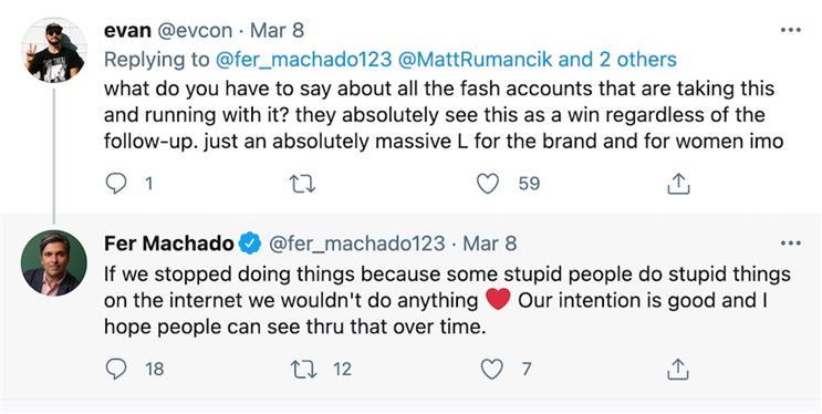 Fernando Machado's tweets show how Burger King decided to delete its IWD tweet