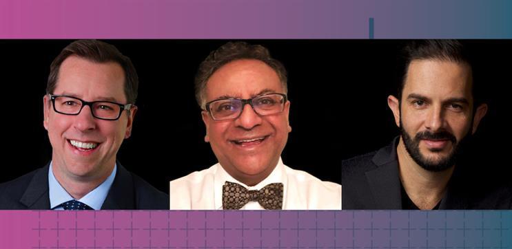 L-R: Richard Hatzfeld, Ritesh Patel, Pepe Aguilar