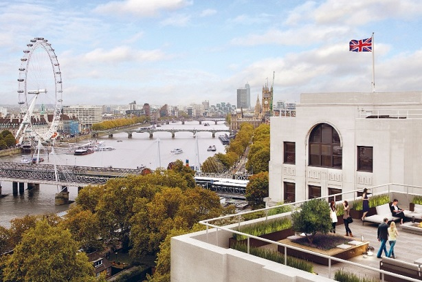 Office room with a view: Finsbury's balcony