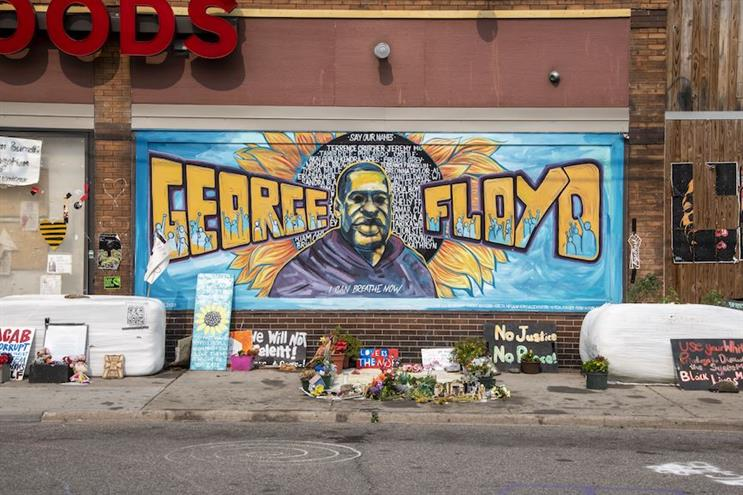 A memorial to George Floyd outside Cup Foods in Minneapolis. (Photo credit: Getty Images).