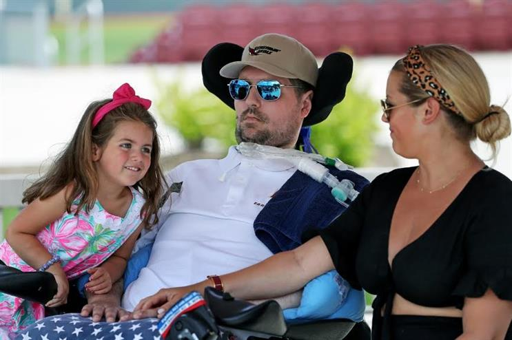 Frates with his family (Photo credit: Getty Images)