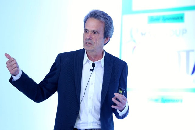 Golin CEO Fred Cook captivates his audience with his life story at the ICCO Global Summit in New Delhi