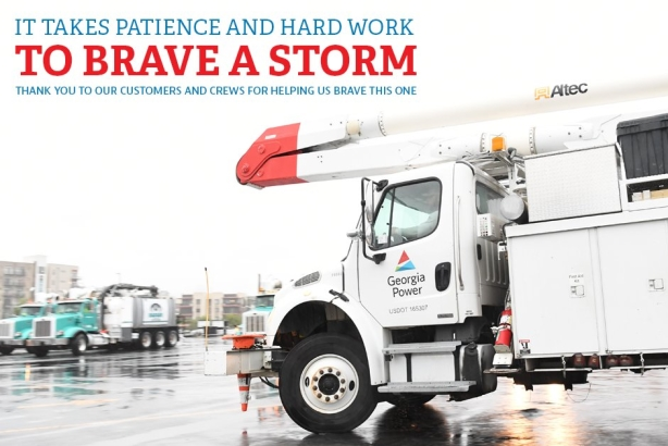 How Georgia Power communicated with customers before, during, and after Irma