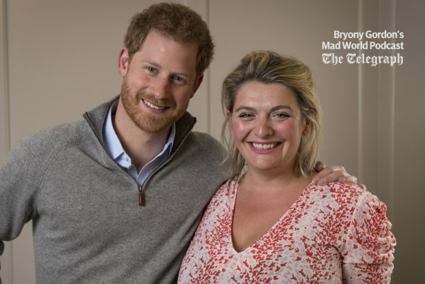 Prince Harry and the Telegraph's writer and mental health podcast-er Bryony Gordon