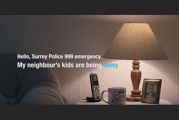 Banned: The film aimed to help the public make the correct decision on whether to call the police (pic credit: Surrey Police)