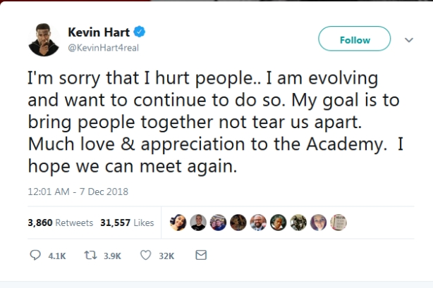 Did Kevin Hart need to step down as Oscar host?