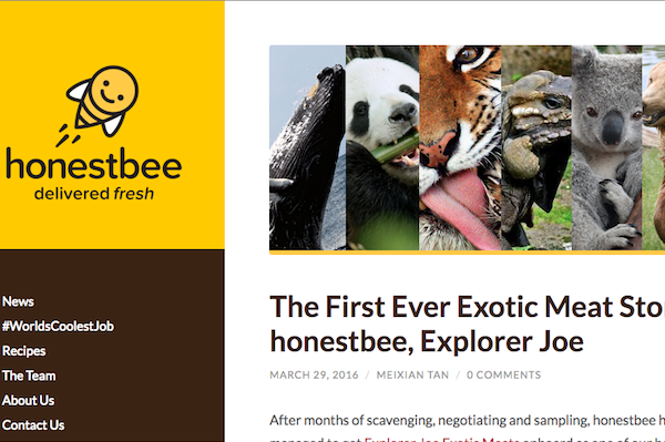 Update: Honestbee exotic meats campaign not an April Fools' prank