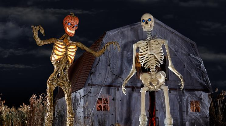 Look out! Home Depot's 12-foot skeleton is returning – and this time, he has a friend