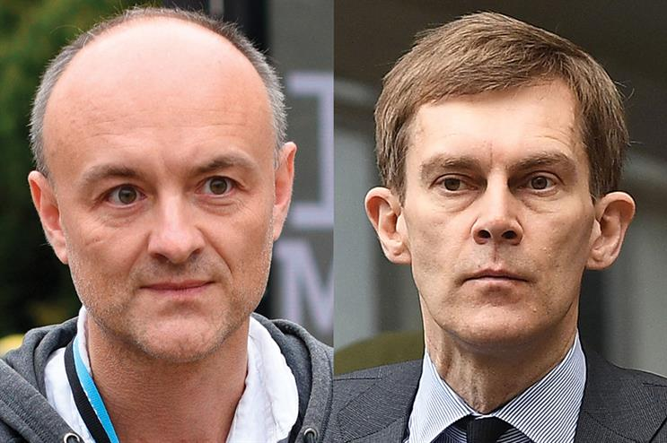 Are Dominic Cummings (left) and Seamus Milne (right) for the chop? (pic credits: OLI SCARFF/AFP/Getty Images/Leon Neal/Getty Images)