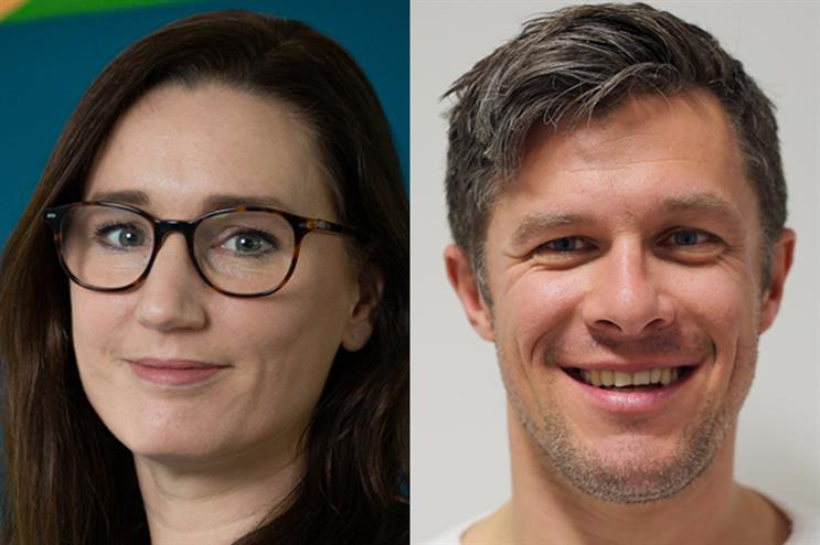 Corrina Safeio (L) has been promoted to managing director at Pegasus, taking over from Simon Hackett (R), business unit head at Ashfield Healthcare Communications