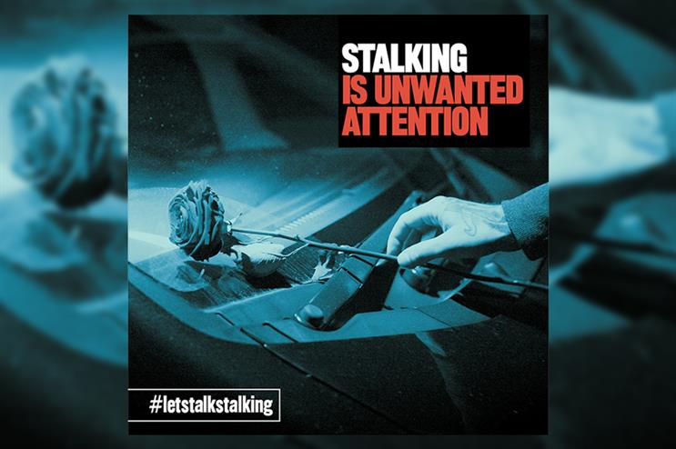 One of the images being used in Staffordshire Police's campaign to raise awareness of stalking
